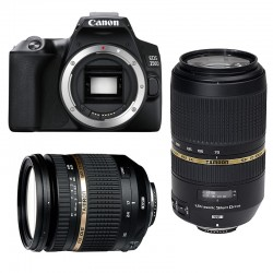 CANON EOS 250D + TAMRON 17-50 VC + TAMRON 70-300 VC USD Garanti 3 ans