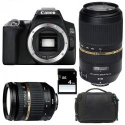 CANON EOS 250D + TAMRON 17-50 VC + TAMRON 70-300 VC USD Garanti 3 ans + Sac + SD 4Go