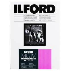 ILFORD Papier MULTIGRADE IV RC DE LUXE MGD 1M Surface Brillante 20.3 x 25.4 cm 25 feuilles