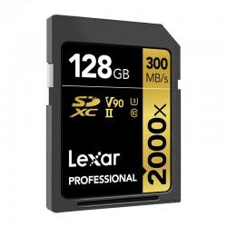 LEXAR Carte SDXC 128 Go 2000X V2 Professional 300 Mo/s Classe 10 UHS-II U3