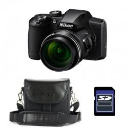 NIKON Bridge Coolpix B600 NOIR + Etui + Carte SD 4 Go Garanti 2 ans