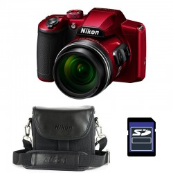 NIKON Bridge Coolpix B600 ROUGE + Etui + Carte SD 4 Go Garanti 2 ans