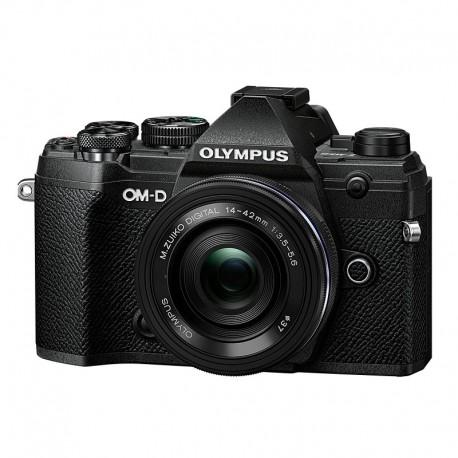 OLYMPUS OM-D E-M5 MARK III NOIR + 14-42 Pancake Zoom EZ NOIR Garanti 3 ans