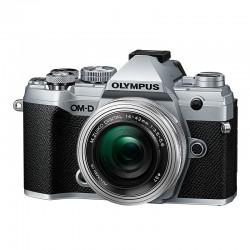 OLYMPUS OM-D E-M5 MARK III SILVER + 14-42 Pancake Zoom EZ SILVER Garanti 3 ans