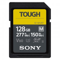 SONY Carte SD TOUGH 128 Go 277 Mo/s en lecture et 150 Mo/s en écriture - SF-E128