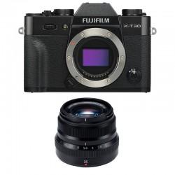 FUJIFILM X-T30 NOIR + 35mm f/2 WR Garanti 3 ans