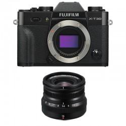 FUJIFILM X-T30 NOIR + 16mm f/2.8 Garanti 3 ans