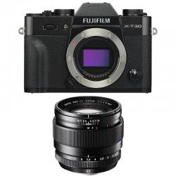 FUJIFILM X-T30 NOIR + 23mm f/1.4 R Garanti 3 ans
