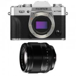 FUJIFILM X-T30 SILVER + 56mm f/1.2 Garanti 3 ans