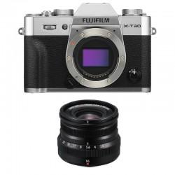 FUJIFILM X-T30 SILVER + 16mm f/2.8 Garanti 3 ans