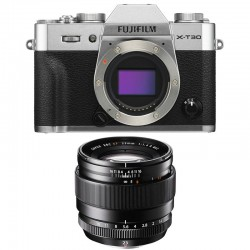 FUJIFILM X-T30 SILVER + 23mm f/1.4 R Garanti 3 ans