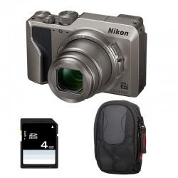 NIKON Compact Coolpix A1000 SILVER + Etui + Carte SD 4 Go Garanti 2 ans