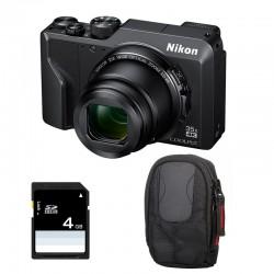 NIKON Compact Coolpix A1000 NOIR + Etui + Carte SD 4 Go Garanti 2 ans