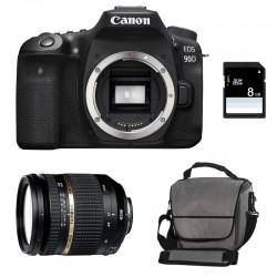 CANON EOS 90D + TAMRON SP AF 17-50 f/2.8 XR Di II VC LD Garanti 3 ans + Sac + SD 8Go