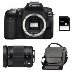 CANON EOS 90D + SIGMA 18-300 OS HSM Contemporary Garanti 3 ans + Sac + SD 8Go