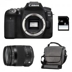 CANON EOS 90D + SIGMA 18-200 OS HSM Contemporary Garanti 3 ans + Sac + SD 8Go