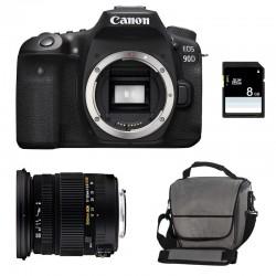 CANON EOS 90D + SIGMA 17-50 F2.8 DC OS EX HSM Garanti 3 ans + Sac + SD 8Go