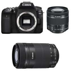 CANON EOS 90D + 18-55 IS STM + 55-250 IS STM