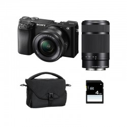 SONY ALPHA 6100 NOIR + 16-50 + 55-210 Garanti 3 ans + FT + SD