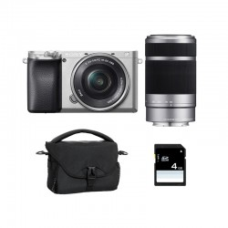 SONY ALPHA 6100 SILVER + 16-50 + 55-210 Garanti 3 ans + FT + SD