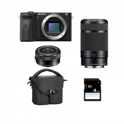 SONY ALPHA 6600 NOIR + 16-50 + 55-210 Garanti 3 ans + FT + SD
