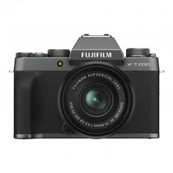 FUJIFILM X-T200 Dark Silver + Objectif XC15-45 PZ Garanti 3 ans