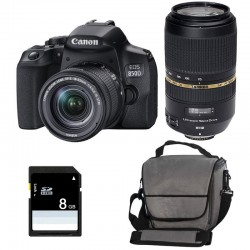 CANON EOS 850D + 18-55 IS STM + TAMRON 70-300 DI Garanti 3 ans + Sac + SD 4Go