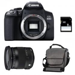 CANON EOS 850D + SIGMA 17-70 F2.8-4 DC Macro OS HSM Contemporary Garanti 3 ans + Sac + SD 4Go