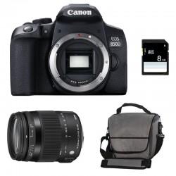 CANON EOS 850D + SIGMA 18-200 OS HSM Contemporary Garanti 3 ans + Sac + SD 4Go