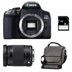 CANON EOS 850D + SIGMA 18-300 OS HSM Contemporary Garanti 3 ans + Sac + SD 4Go