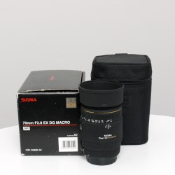 Occasion Sigma 70 mm f2.8 EX DG Macro Canon