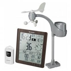 BRESSER Centrale météo climatemp FW aspect bois écran XXL