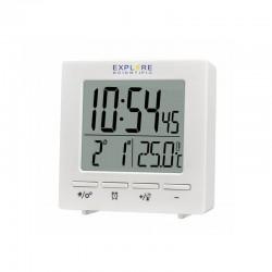 EXPLORE SCIENTIFIC Réveil projecteur radio-piloté mini blanc avec température