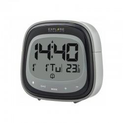 EXPLORE SCIENTIFIC Réveil radio-piloté avec température. noir