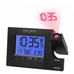 EXPLORE SCIENTIFIC Réveil projecteur radio-piloté avec température