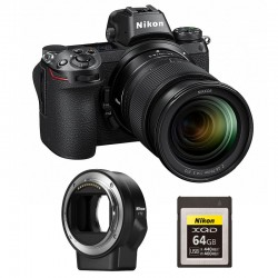 NIKON Z 6 + Z 24-70mm f/4 S Garanti 3 ans + FTZ Adaptateur + Carte XQD 64Go