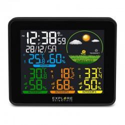 EXPLORE SCIENTIFIC Station météo couleur multi-capteurs (3). noire