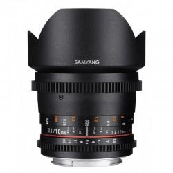 SAMYANG Objectif vidéo 10mm T3.1 VDSLR II Canon Garanti 2 ans