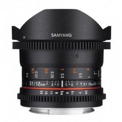 SAMYANG Objectif vidéo 12mm T3.1 Fisheye VDSLR Sony E Garanti 2 ans