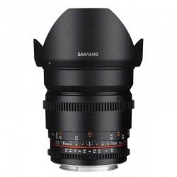 SAMYANG Objectif vidéo 16mm T2.2 VDSLR II Canon  Garanti 2 ans