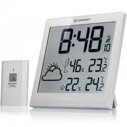 BRESSER Horloge météo LCD TemeoTrend JC - blanche - 7004404GYE000