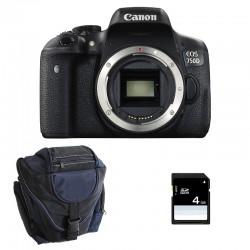 CANON EOS 750D nu GARANTI 3 ans + Sac + SD 4Go