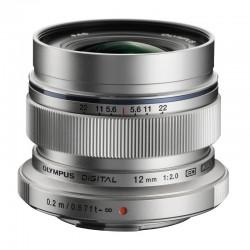 OLYMPUS Objectif M.ZUIKO ED 12 mm f/2 Silver GARANTI 2 ans