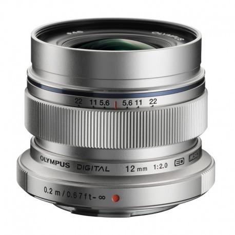 OLYMPUS Objectif M.ZUIKO ED 12mm f/2 Silver Garanti 2 ans