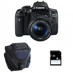 CANON EOS 750D + 18-55 IS STM GARANTI 3 ans + Sac + SD 4Go