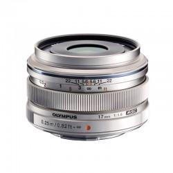 OLYMPUS Objectif M.ZUIKO 17mm f/1.8 Silver Garanti 2 ans