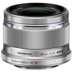 OLYMPUS Objectif M.ZUIKO 25mm f/1.8 Silver Garanti 2 ans