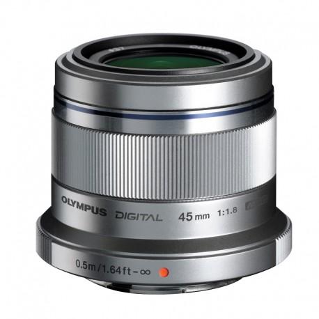 OLYMPUS Objectif M.ZUIKO 45mm f/1.8 Silver Garanti 2 ans