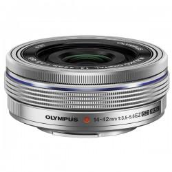 OLYMPUS Objectif M.ZUIKO 14-42mm f/3.5-5.6 EZ Pancake Silver Garanti 2 ans