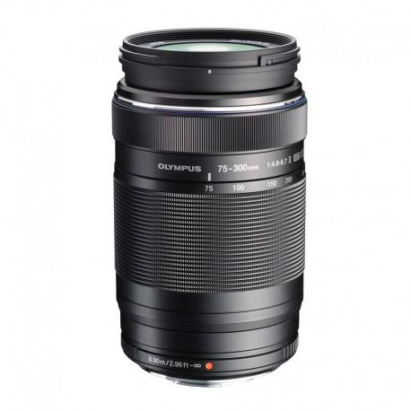 OLYMPUS Objectif M.ZUIKO ED 75-300mm f/4.8-6.7 II Noir Garanti 2 ans